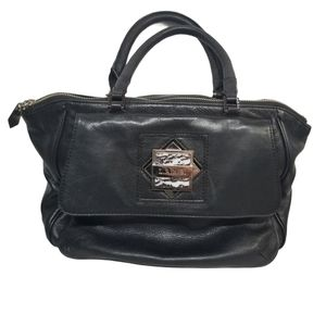 L.A.M.B. Gwen Stefani Black Leather Satchel
